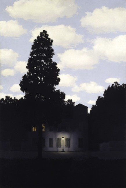 René Magritte L'impero della luce (L'Empire des lumières) 1953–54 Olio su tela, 195,4 x 131,2 cm Collezione Peggy Guggenheim, Venezia  © René Magritte, by SIAE 2014