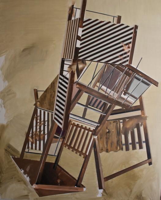 Cosimo Casoni, Playground 13, 2014, olio su tela, cm 160x200