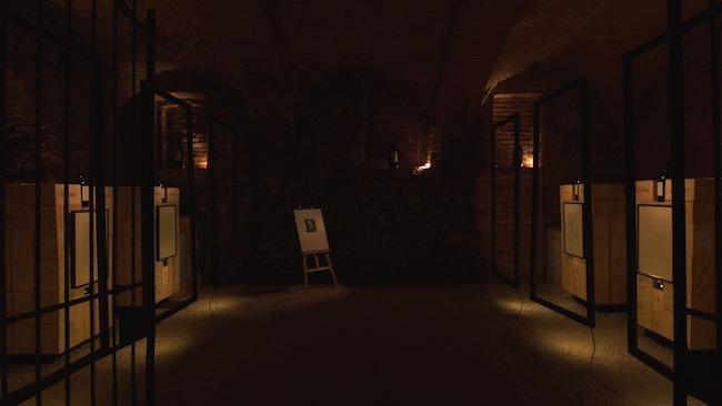 Veduta mostra Le ligne amoreuse chez Auguste Renoir, Palas Cerequio, Barolo Cru Resort, La Morra