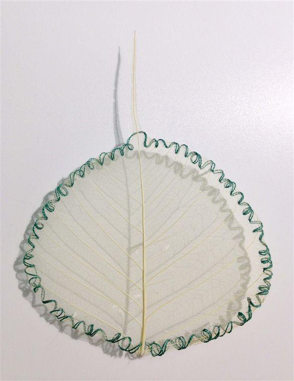 L'orMa, Untitled, 11x8,5cm, foglia gelso naturale, cotone