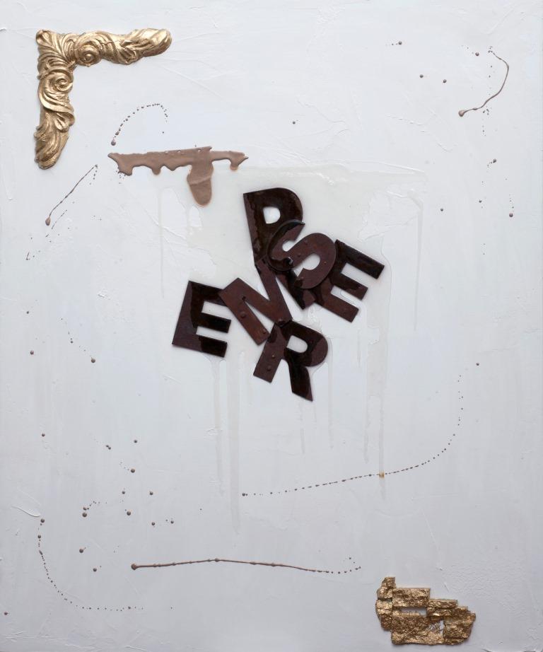 Stefano Torrielli - E Sempre e per sempre first - 2012-(Tecnica mista su tela ( resina , acrilico)120x100cm