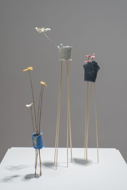 Aldo Grazzi, Giardino d'inverno giallo, rosa, bianco, 2013