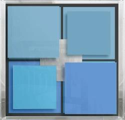 Christian Megert,  Senza titolo, 2005, legno, specchio e acrilico, cm 71 x 71 x 12