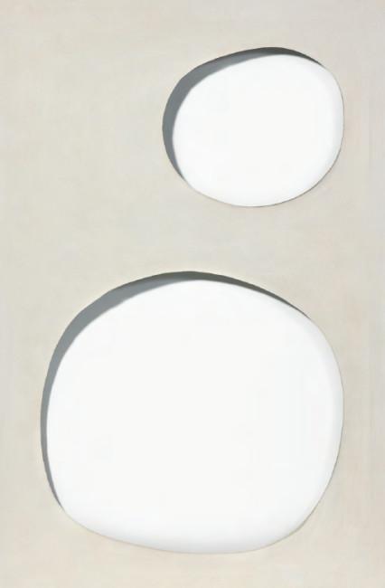Dadamaino, Volume, 1958, idropittura su tela, 100×70 cm