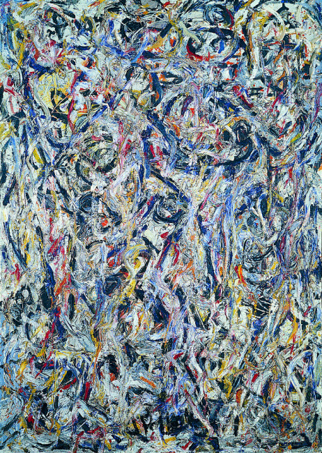 Jackson Pollock  Earth Worms, 1946  olio su tela  Tel Aviv Museum of Art Collection, dono di Peggy Guggenheim, Venezia attraverso l'American-Israel Cultural Foundation, 1954 © Jackson Pollock, by SIAE 2014