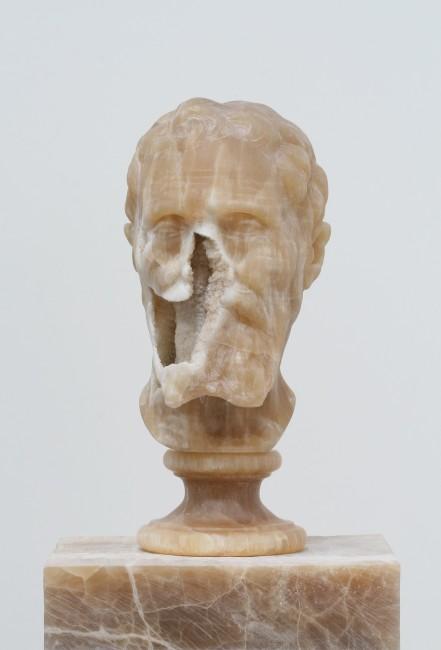 Nicola Samorì, Il male della pietra, 2014, onice, 48x31.5x31.5 cm