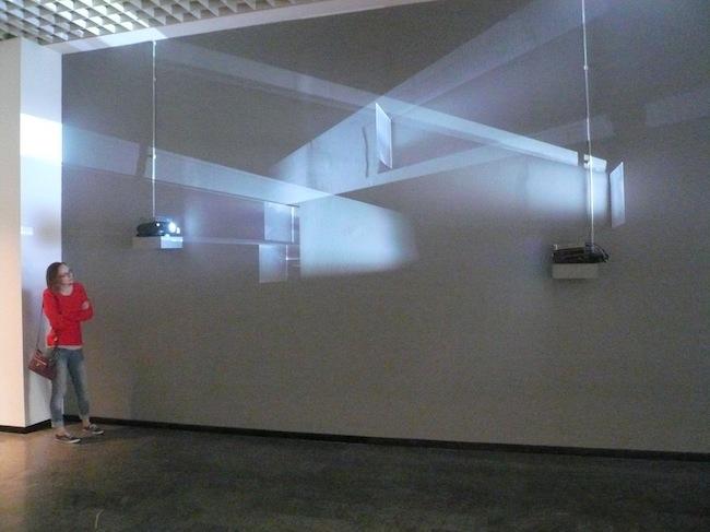 Alessandro Quaranta, Area d'attesa, 2014, installazione a 3 canali. Video da webcam in tempo reale a proiezione continua. Courtesy l'artista