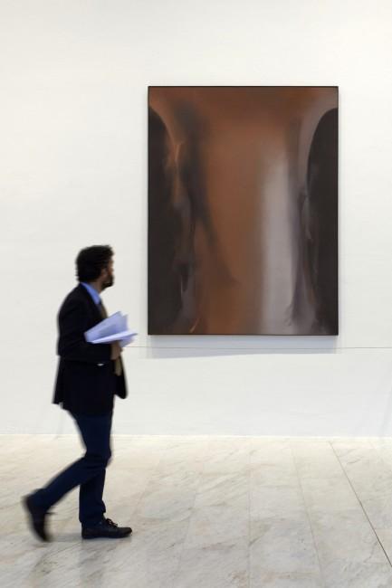 Claudio Olivieri, Le gioie di Tristano, 1992, olio su tela, prestito dell'artista, Bocconi Art Gallery 2014