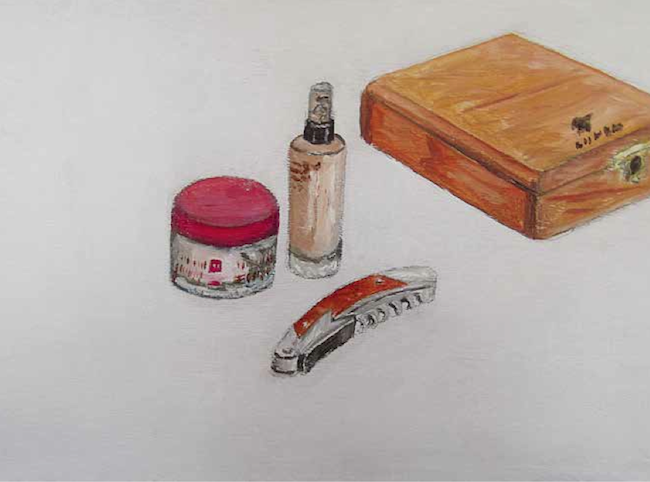 Elzevir, Still life today, number 4, 2014, oil on wood, cm 20x30