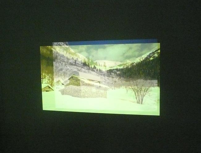 Alessandro Quaranta, Per te - che verrai, 2014, installazione a 2 canali. Video HD, 27' suono colore; 14 diapositive. Courtesy l'artista e Carlo Amerio