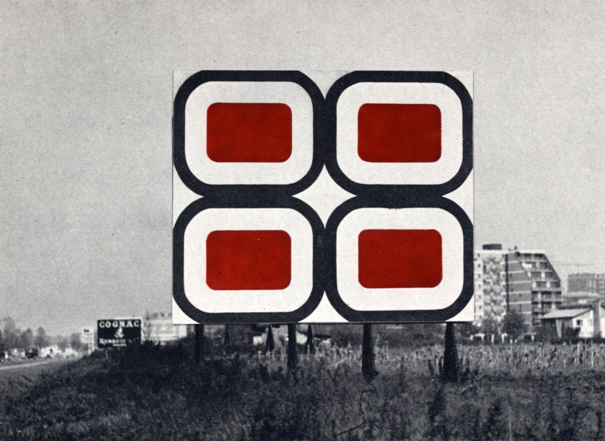 Winfred Gaul, Pannello autostrada Milano-Monza, 1962