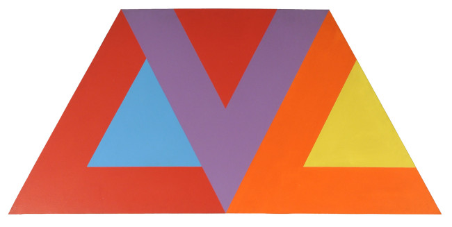 Winfred Gaul, O.T., 1967 , acrilico su tavola, 90x180 cm