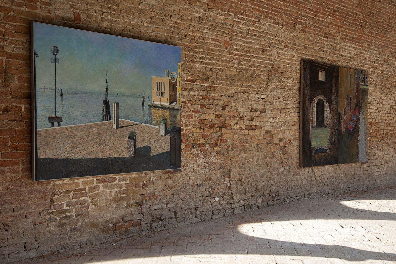 Tom Parish. Venezia. Veduta della mostra nel Chiostro della Chiesa della Madonna dell'Orto, Venezia