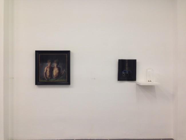 Agostino Arrivabene. Vesperbild, veduta della mostra, Galleria Giovanni Bonelli, Milano