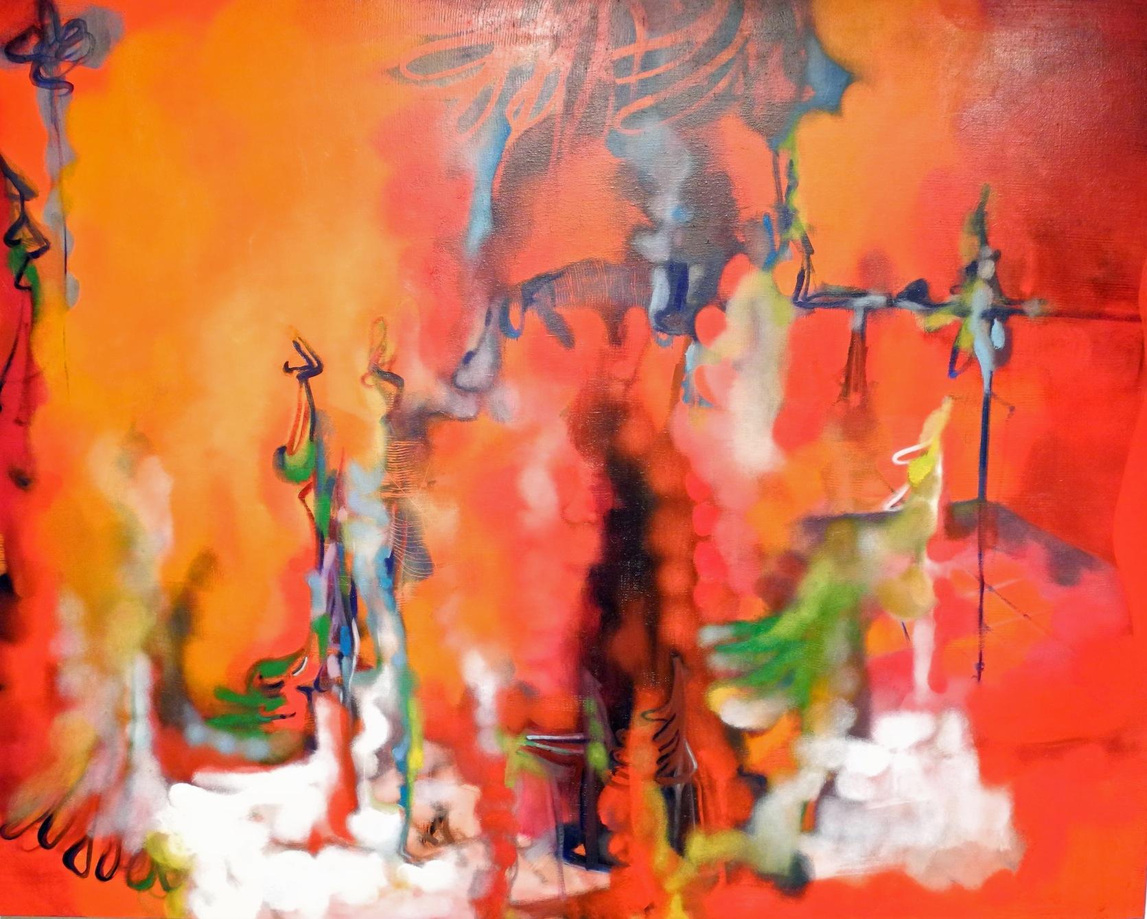 Marco Cingolani, Gli emblemi del potere, 2013, olio su tela, 140x180 cm Courtesy Boxart, Verona