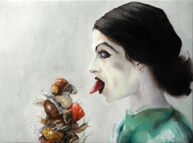 Simona Bramati, Lucubratio, 2014, olio su tela, 30x40 cm