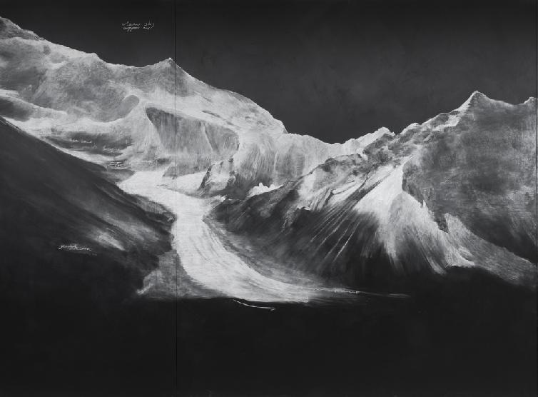 Tacita Dean, Fatigues, 2012 (detail of blackboard 2) Photo Nils Klinger Courtesy the Artist, Frith Street Gallery, London and Marian Goodman Gallery, New York - Paris