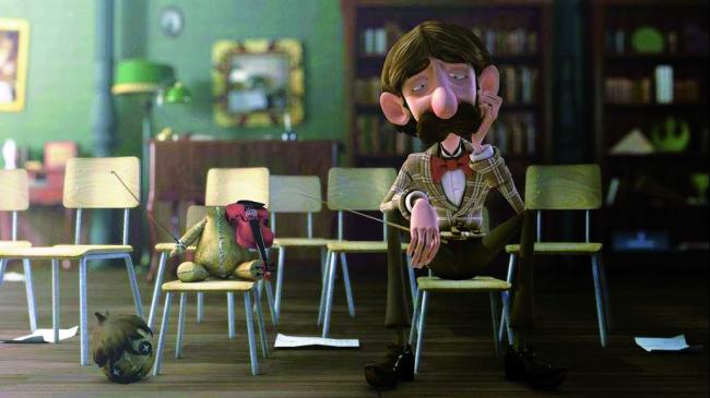 Una scena di Alfred y Anna, di Juanma Suarez, opera d'animazione presentata per la sezione Art Lab del Festival Internazionale del Cinema d'Arte di Milano