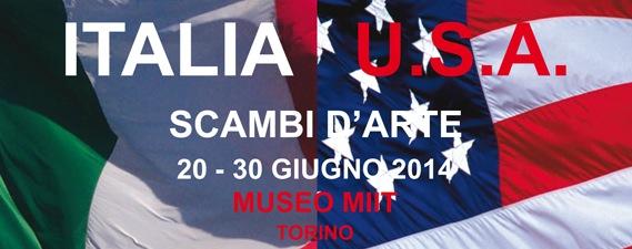 Italia - U.S.A.: scambi d'arte, Museo MIIT, Torino (particolare dell'invito)