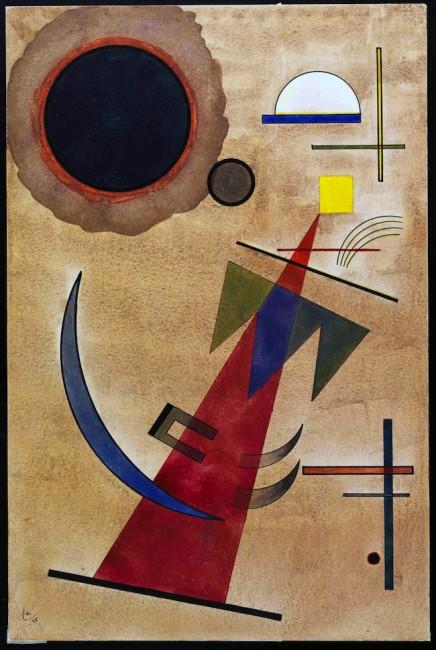 Vasilij Kandinskij, Rot in Spitzform 1925 acquerello e china su carta, mm 485x325 Rovereto, MART, Museo di arte moderna e contemporanea di Trento e Rovereto, Collezione L.F.