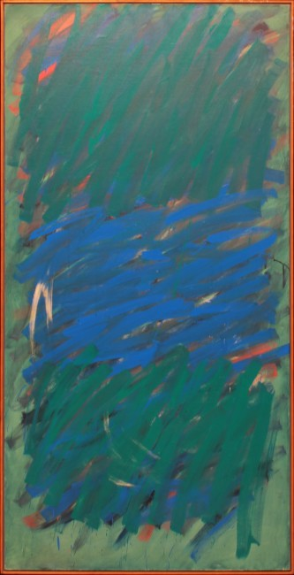 Claudio Verna, Foxtrot, 1978, olio su tela, 200x100 cm