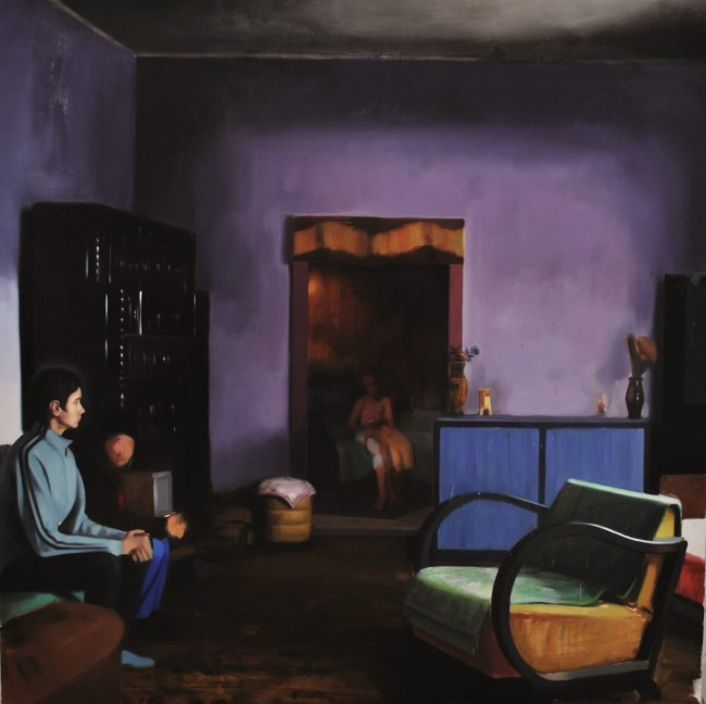 Interior, 2013, oil on canvas, 200x200 cm