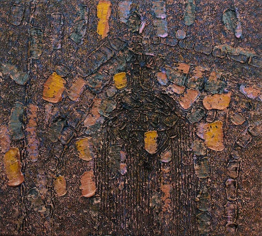 Piero Zuccaro, Architettura - interno, 2011, olio su tela, 135x150 cm