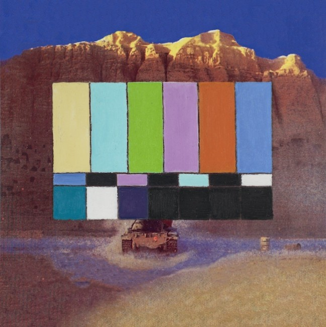 Francis Alÿs, Untitled Studio per Reel-Unreel Olio su carta stampata 2012