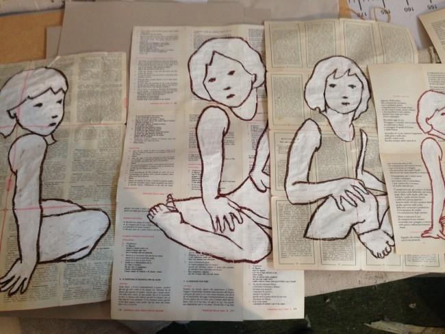 Valerio Berruti, Così sia, disegni, pastello ad olio su carta