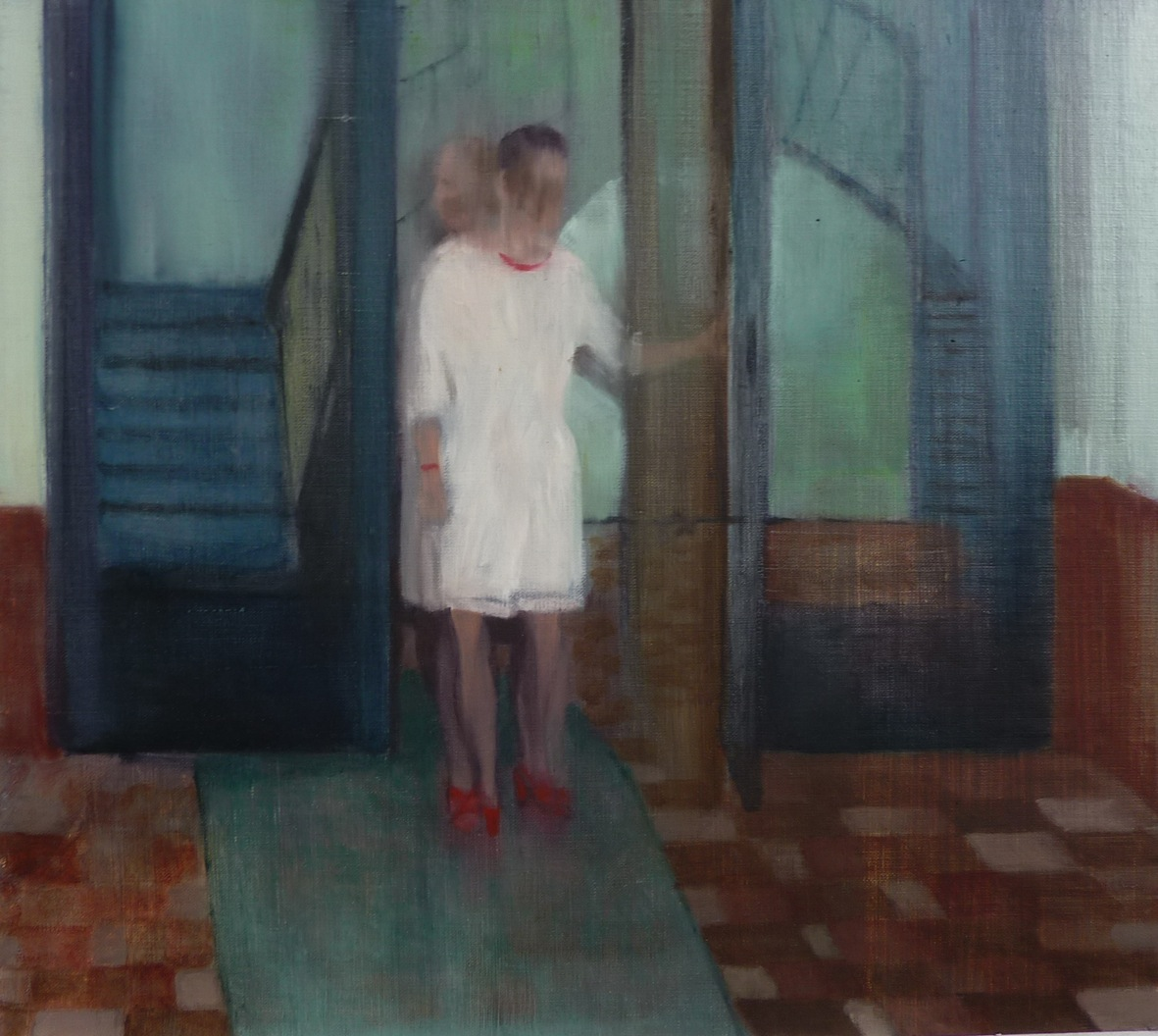 in and out, 2012, oil on canvas, 30x33.5 cm Courtesy of the artist