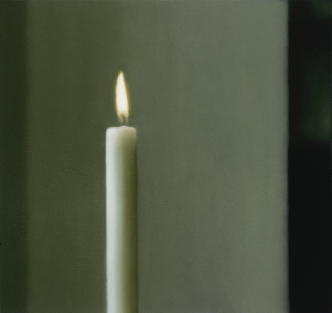 Gerhard Richter, Kerze, 1982 Candle Oil on canvas, 90 cm x 95 cm Collection Institut d'art contemporain, Rhône-Alpes © 2014 Gerhard Richter