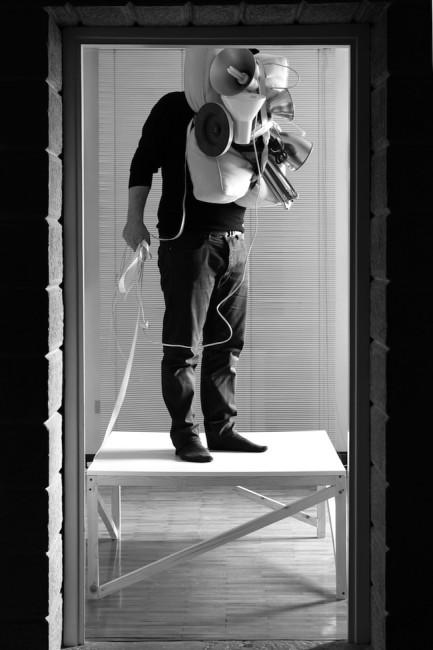 Michele Tajariol, Nothing is hidden, 2014, documentazione di performance, stampa fineart su carta fotografica, 31 x 43 cm,