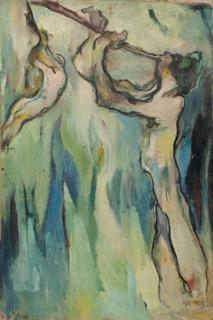 Hans Richter, Flötisten, 1911–15, olio su tela, 99.1x67.3 cm, Collezione privata © 2013 Hans Richter Estate Foto © 2013 Museum Associates/LACMA