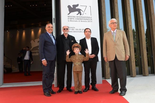 Red Carpet, la delegazione di The President con A. Barbera, P. Baratta de La Biennale di Venezia, Foto ASAC