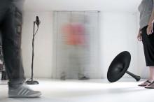 M.Spanghero-M.Tajariol, Stage, 2014, installazione site specific, legno e laminato, 310 x 350 x 45 cm