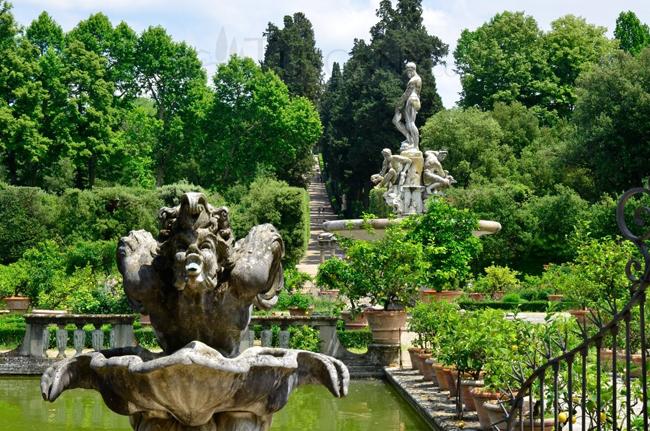 Veduta del Giardino di Boboli, Firenze