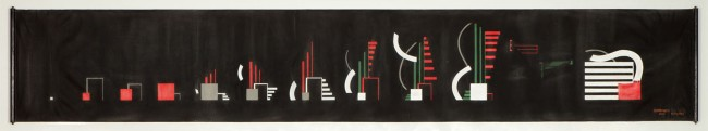 Hans Richter, Ryhtums 23, 1923, olio su tela, 70x420 cm, Museo Cantonale d'Arte, Lugano © 2014 Hans Richter Estate Foto courtesy of the Hans Richter Estate