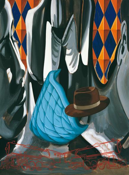 2000Maniacs, David Salle. Courtesy Studio d'Arte Raffaelli