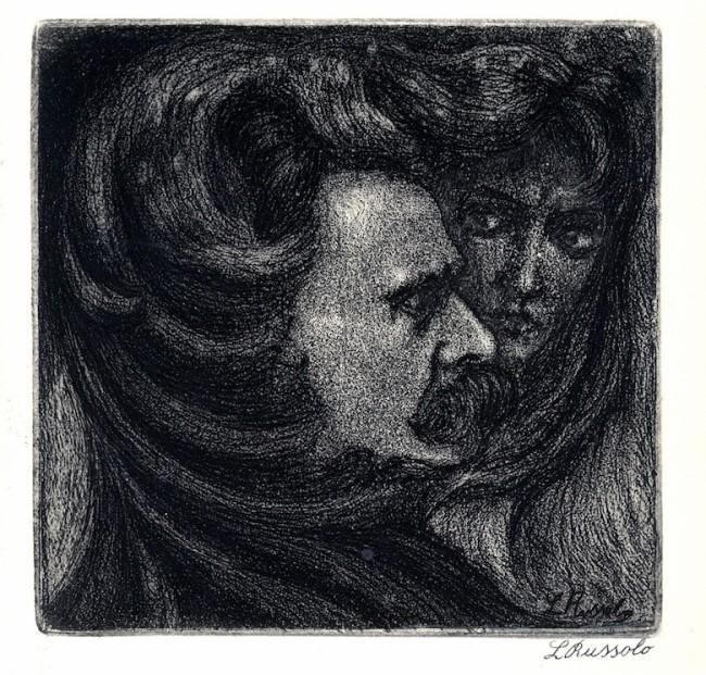 Luigi Russolo, Autoritratto, 1906, acquaforte, Museo Comunale d'Arte Moderna Ascona
