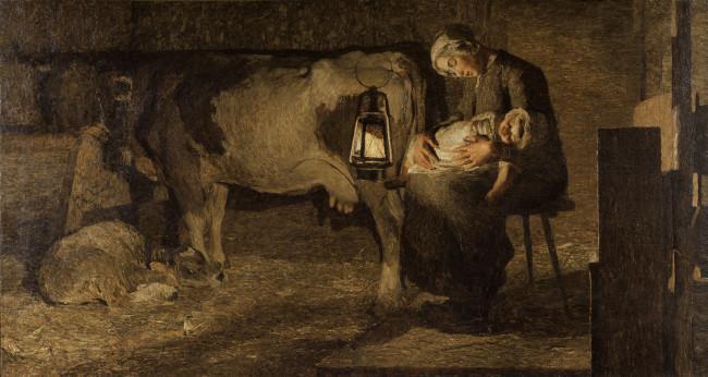 Giovanni Segantini, Le due madri, 1889, olio su tela, 162.5x301 cm, Galleria d'Arte Moderna, Milano