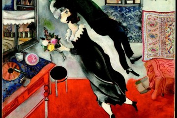 Marc Chagall, Il compleanno, 1915, olio su cartone, The Museum of Modern Art, New York. Acquired through the Lillie P. Bliss Bequest, 1949 © 2014 Digital image, The Museum of Modern Art, New York/Scala, Firenze © Chagall ® by SIAE 2014