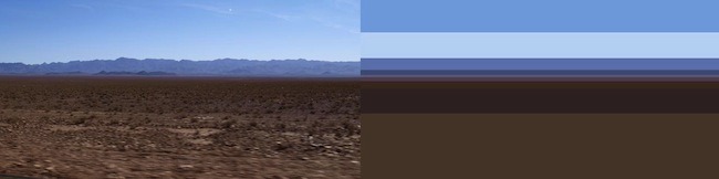 Elena BOCCINI Pittura, 3° anno: Lontananze: Marocco 001, 004, 2014 fotografie 80x20 cm. In mostra da Studio La Città