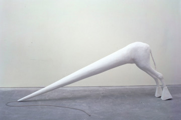 Not Vital, Il Toffus: Hydrocal and plastic tube, 200x80.5x25 cm