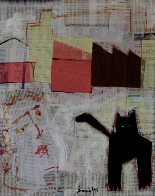Luciano Bonetti, tecnica mista e collage, 2014