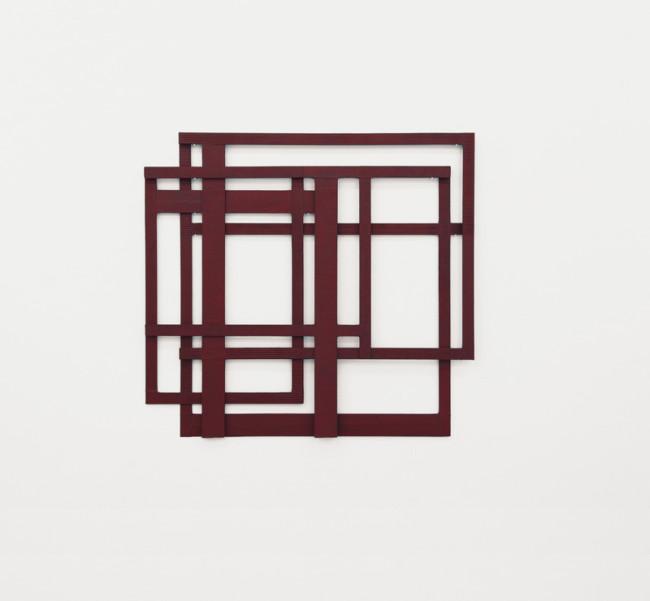 Alessandro Traina, Consequenze/4, 2013, acciaio corten, bitume e stoffa, 87x81 cm