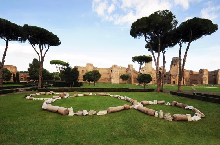 Michelangelo Pistoletto, Il Terzo Paradiso, 2012, Terme di Caracalla, Roma (installazione permanente)