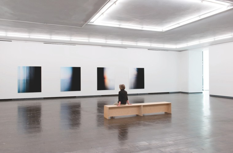 Wolfgang Weileder, veduta dell'installazione per la mostra Transversale, Kunsthalle, Recklinghausen (13 luglio - 24 agosto 2014)