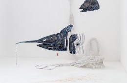 Textile vivant, allestimento della mostra, Triennale Milano (Afran)