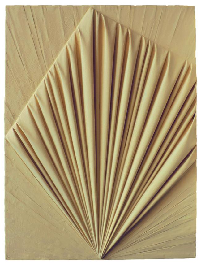 Umberto Mariani, La forma celata, 2008, vinilico e sabbia su lamine di piombo, cm 80,5x60,5