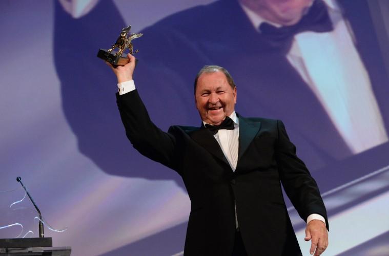 Roy Andersson riceve il Leone D'Oro alla 71. Mostra Internazionale del Cinema di Venezia